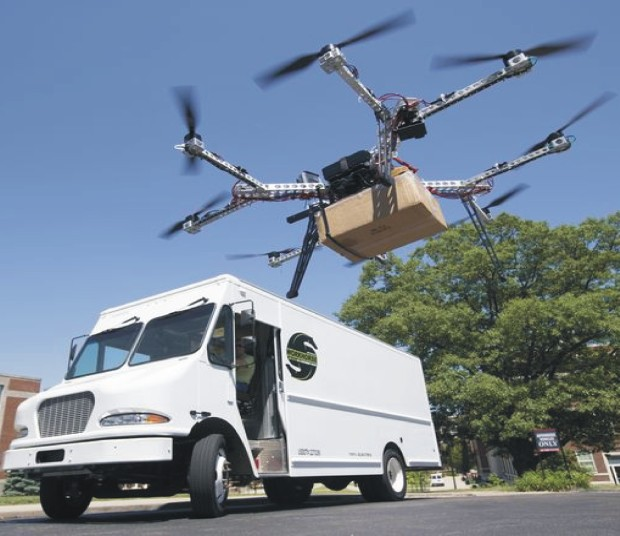 Drone Delivering Mail