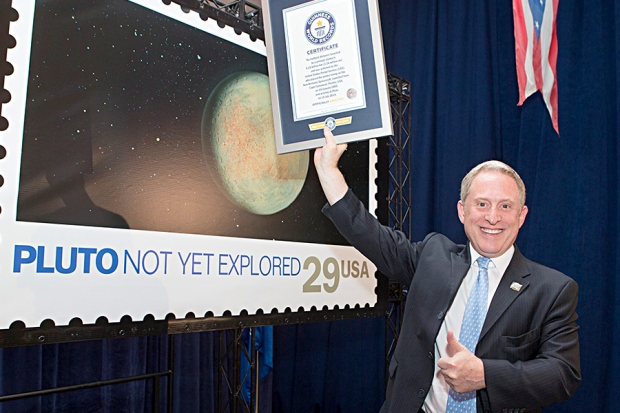 Pluto stamp record