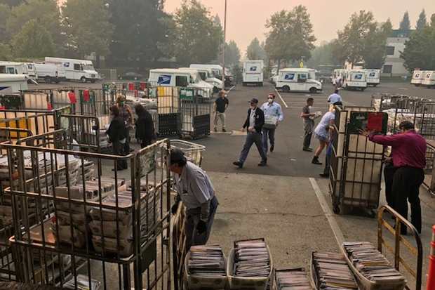 Napa County mail service during fires