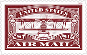 100 year anniversary airmail-red