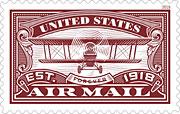 100 year anniversary airmail-red